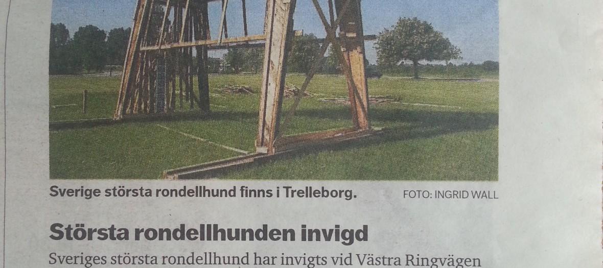 Dagens Nyheter - Största rondellhunden invigd